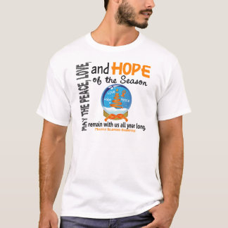 Christmas Holiday Snow Globe 1 Multiple Sclerosis T-Shirt