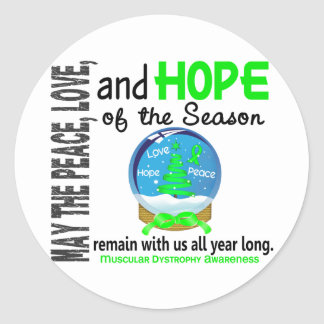 Christmas Holiday Snow Globe 1 Muscular Dystrophy Stickers
