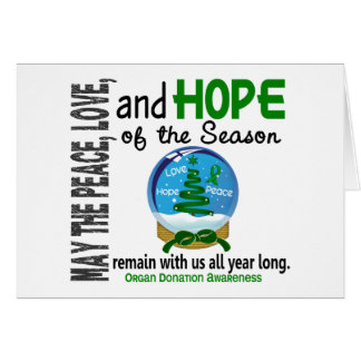 Christmas Holiday Snow Globe 1 Organ Donation Cards