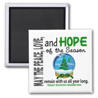 Christmas Holiday Snow Globe 1 Organ Donation Magnets