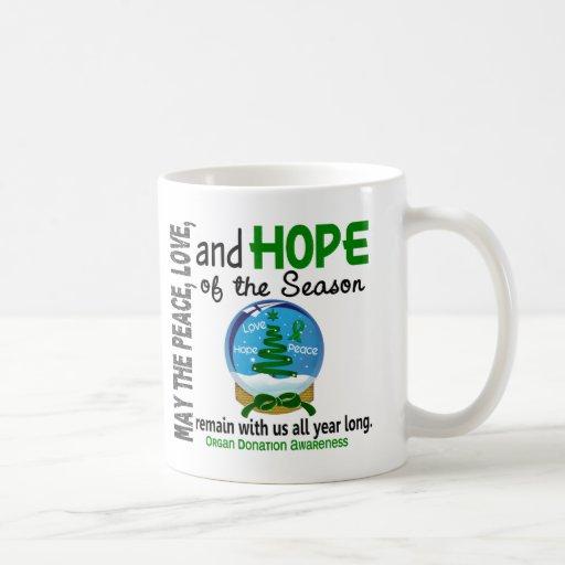 Christmas Holiday Snow Globe 1 Organ Donation Classic White Coffee Mug