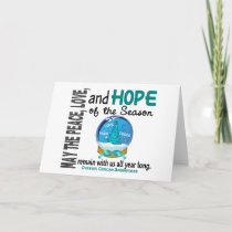 Christmas Holiday Snow Globe 1 Ovarian Cancer