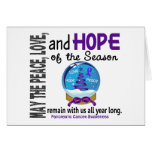 Christmas Holiday Snow Globe 1 Pancreatic Cancer Card