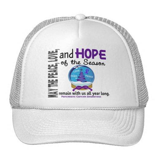 Christmas Holiday Snow Globe 1 Pancreatic Cancer Hat
