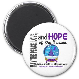 Christmas Holiday Snow Globe 1 Pancreatic Cancer Fridge Magnets