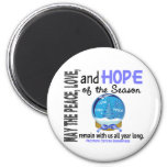 Christmas Holiday Snow Globe 1 Prostate Cancer Magnet