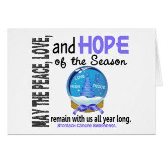 Christmas Holiday Snow Globe 1 Stomach Cancer Cards