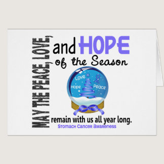 Christmas Holiday Snow Globe 1 Stomach Cancer Card