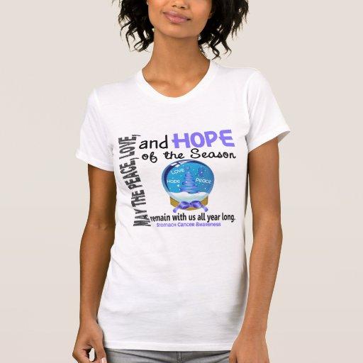 Christmas Holiday Snow Globe 1 Stomach Cancer Tee Shirts