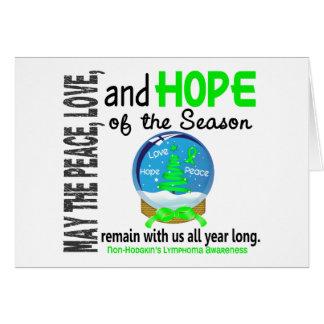 Christmas Holiday Snow Globe Non-Hodgkins Lymphoma Cards