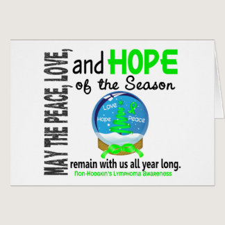 Christmas Holiday Snow Globe Non-Hodgkins Lymphoma Card