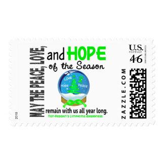 Christmas Holiday Snow Globe Non-Hodgkins Lymphoma Stamps