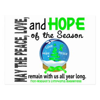 Christmas Holiday Snow Globe Non-Hodgkins Lymphoma Postcard