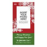 Christmas Holiday Snowflake - Red Card