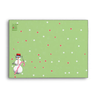 Christmas Holiday Snowman - A7 Envelope