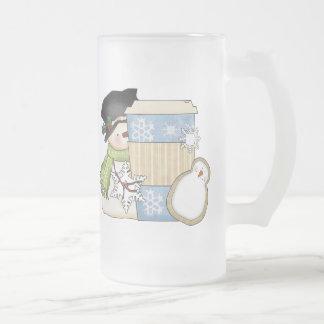 Christmas Holiday Snowman Frosted mug