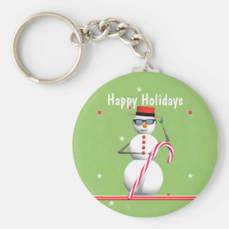 Christmas Holiday Snowman Keychain
