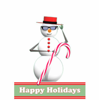 Christmas Holiday Snowman Statuette