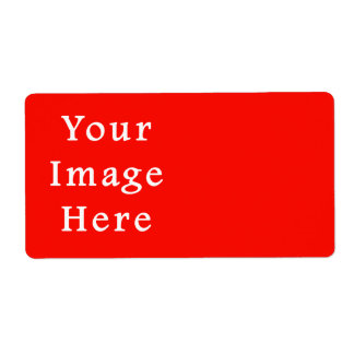 Christmas Holiday Spirit Red Background Color Shipping Label