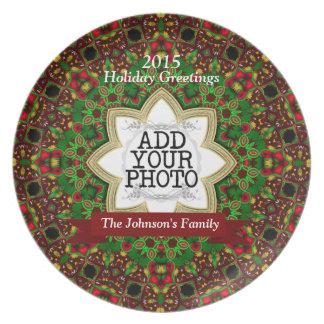 Christmas Holiday Star Family Keepsake Photo Plate