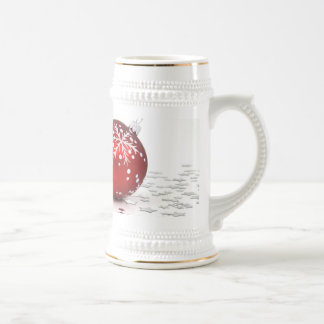 Christmas Holiday Stars Beer Stein