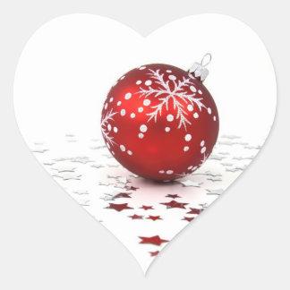Christmas Holiday Stars Heart Sticker