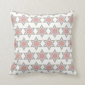 Christmas Holiday Stars Pattern Xmas Throw Pillow