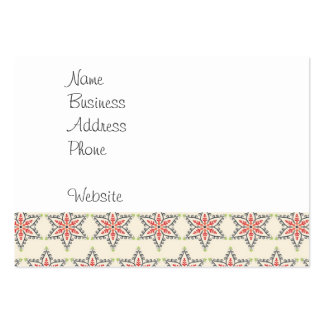 Christmas Holiday Stars Patterns for Xmas Large Business Card