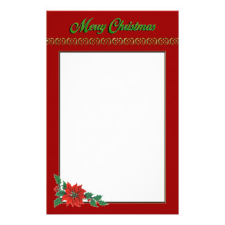 Christmas Holiday Stationary Stationery Paper