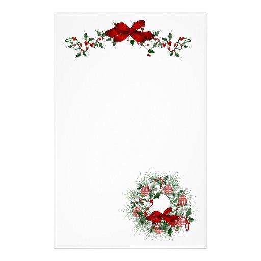 Christmas holiday stationery paper zazzle