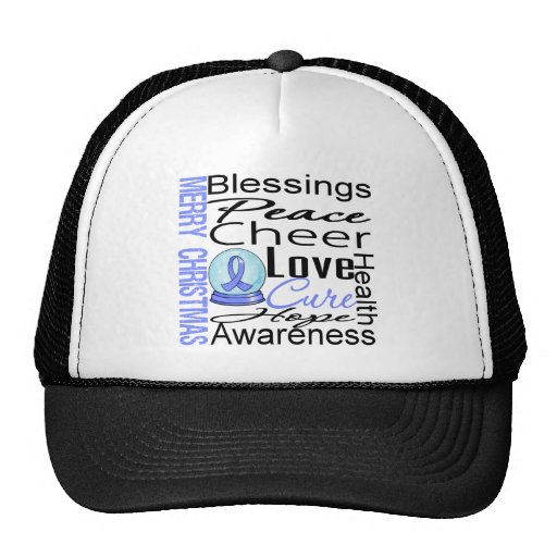 Christmas Holiday Stomach Cancer Collage Hats