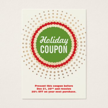 Christmas Themed Christmas / Holiday Store Coupon Promotional Business Card