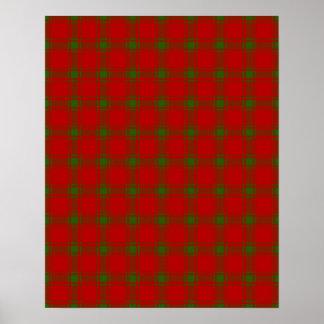 Christmas Holiday Tartan Poster