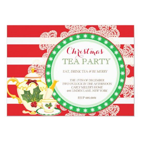 Christmas Tea Party Ideas: Christmas Holiday Tea Party Invitation