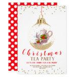 Christmas Holiday Tea Party Invitation