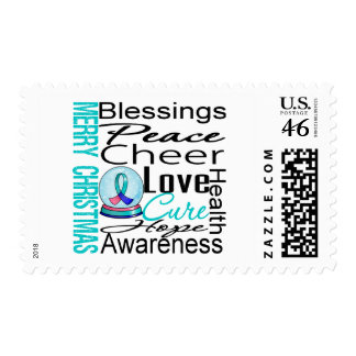 Christmas Holiday Thyroid Cancer Collage Stamp