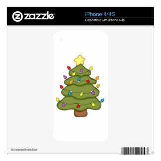 Christmas Holiday Tree iPhone 4 Decal