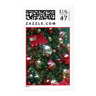 Christmas Holiday Trim The Tree Retro Vintage Postage
