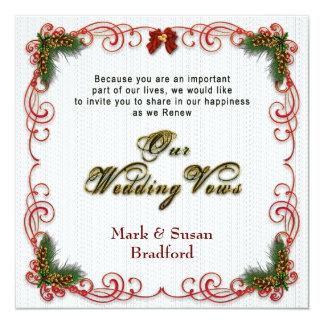 Christmas/Holiday Wedding Renewing Vows Invitation