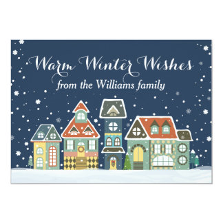 Christmas Holiday Winter Village Card