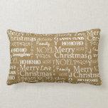 Christmas Holiday Word Art Pillow