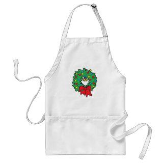 Christmas holiday wreath adult apron