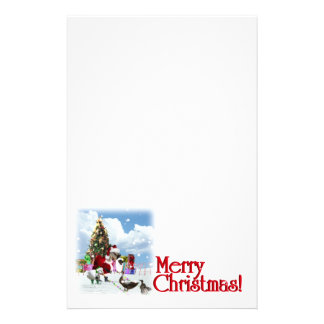 Christmas Holiday Writing Stationery Design