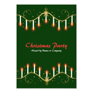 Christmas holidays candles party invitations