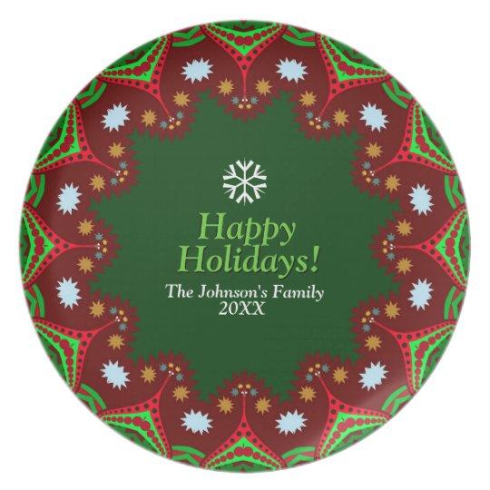 Christmas Holidays Family Keepsake Party Plate