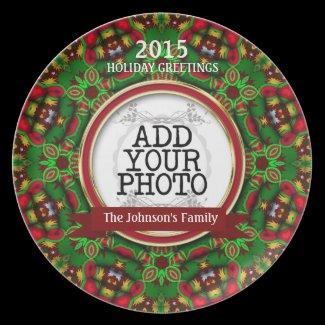 Christmas Holidays Family Keepsake Photo Plate plate