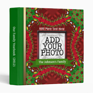 Christmas Holidays Family Photo Yearbook 3 Ring Binder