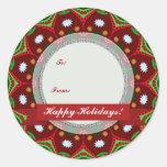 Christmas Holidays Gift-Tag Round Sticker