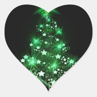 Christmas, holidays, joy, green colors, tree decor heart sticker
