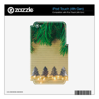 Christmas, holidays, joy, green colors, tree decor iPod touch 4G decal